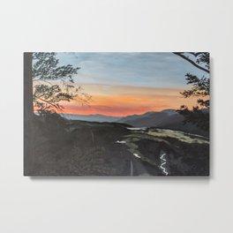 Beacon Rock Sunrise Painting Metal Print