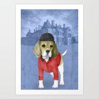 beagle Art Prints featuring Beagle by Barruf
