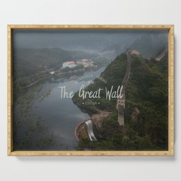 A different view of The Great Wall of China Serving Tray