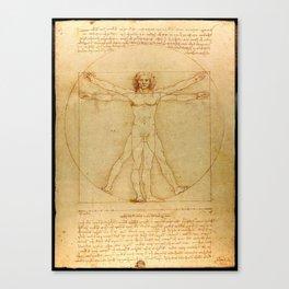 Leonardo da Vinci - Vitruvian Man Canvas Print