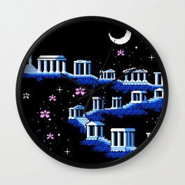 Greek Sanctuary in Pegasus Constellation Wall Clock