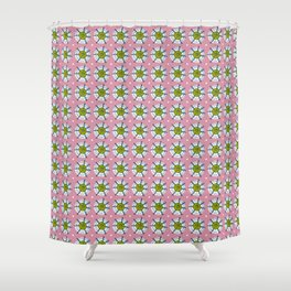 Preppy Snowflakes - larger scale Shower Curtain