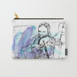 Violin in two tones I Carry-All Pouch