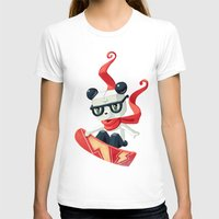 snowboard T-shirts featuring Snowboarding by Freeminds
