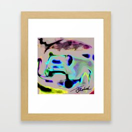 car Framed Art Print