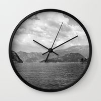 river Wall Clocks featuring River by Shaila