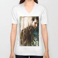 derek hale V-neck T-shirts featuring Derek Hale * Tyler Hoechlin  by AkiMao