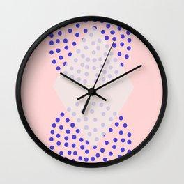 pink shapes Wall Clock
