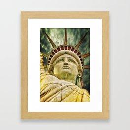 Liberty statue Framed Art Print