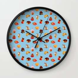 Confectionery Pattern Wall Clock