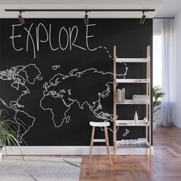 Explore World Map Wall Mural