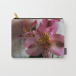 Textured Lily of the Incas Carry-All Pouch