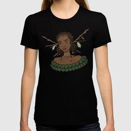 Autumn Oak Goddess • Black Girl Magic in Fall Colors T-shirt