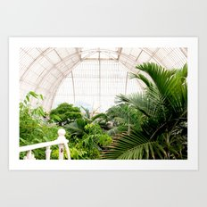 Kew Gardens palm house Art Print