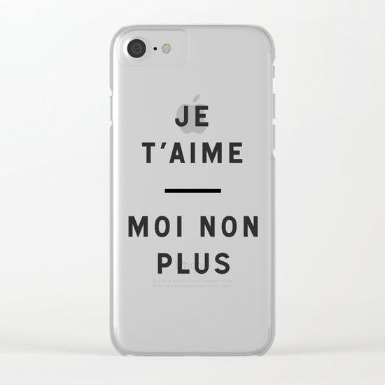 Je t'aime...moi non plus Clear iPhone Case
