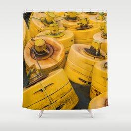 Yellow gathering Shower Curtain