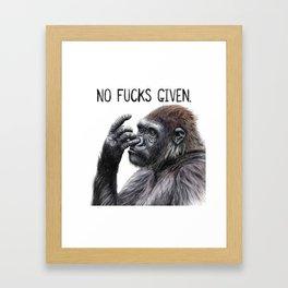 No Fucks Given Framed Art Print