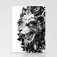 bioworkz Stationery Cards featuring Lion by BIOWORKZ