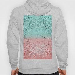 Summer Vibes Glitter Heart #1 #coral #mint #shiny #decor #art #society6 Hoody
