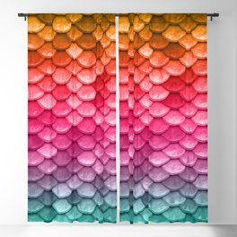 Mermaid Tail Fish Scales Blackout Curtain