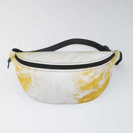Abstract yellow gold marble Fanny Pack