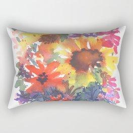 Rainy Day Sunflowers Rectangular Pillow