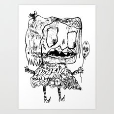 Weird Girl Art Print