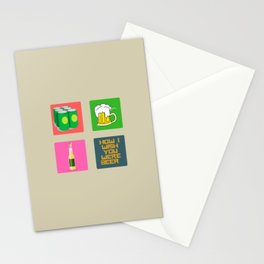 How I Wish You Were A Beer Stationery Cards