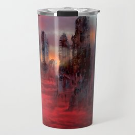 Wolves of Future Past landscape Travel Mug