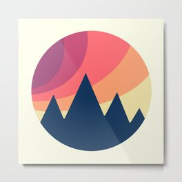 Circle Landscape (Mountains) Metal Print