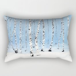Late Afternoon Snowstorm in the Forest Rectangular Pillow