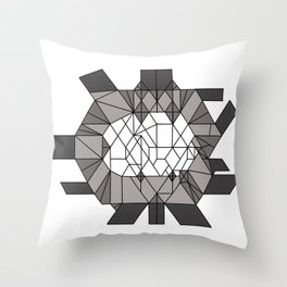 Dark matter: sculptural template (jon nobile) middle section Throw Pillow