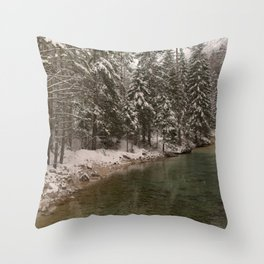 Picturesque Triglavska Bistrica River Throw Pillow