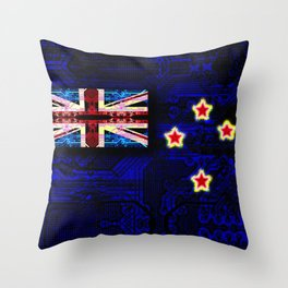 circuit board new zealand (flag) Throw Pillow