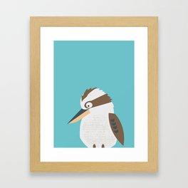 Kooky Kookaburra Framed Art Print
