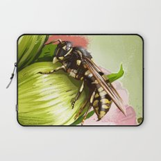 Wasp on flower 6 Laptop Sleeve