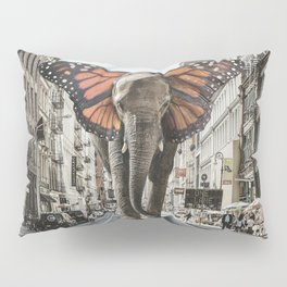 Lost Butterphant in NYC Pillow Sham