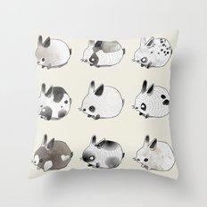 Little Bunnies Throw Pillow