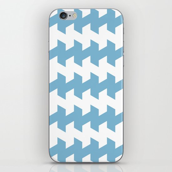 jaggered and staggered in dusk blue iPhone & iPod Skin