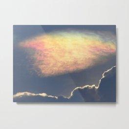 Nube Iridiscente Metal Print