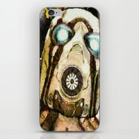 borderlands iPhone & iPod Skins featuring Borderlands Psycho by Joe Misrasi