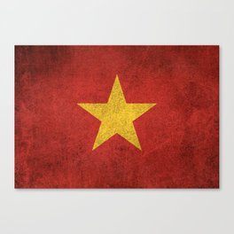 Old and Worn Distressed Vintage Flag of Vietnam Canvas Print