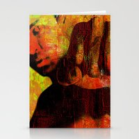 "ali gulec Stationery Cards featuring Cassius ""Ali"" by Joe Ganech"