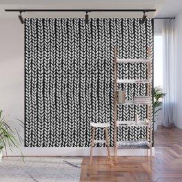 Knit Wave Black Wall Mural
