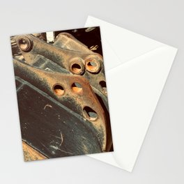 Rusted Abandoned Metal Machine Part Stationery Cards