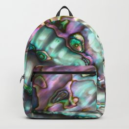 Glowing Cotton Candy Pink & Green Abalone Mother of Pearl Backpack
