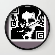 QR- Groucho Wall Clock