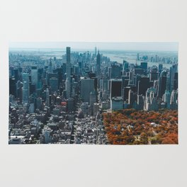 New York City Skyline Central Park Rug