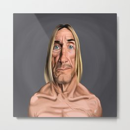 Celebrity Sunday ~ Iggy Pop Metal Print