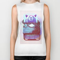 writer Biker Tanks featuring Grizzly writer by RedGoat